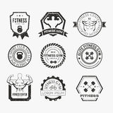 Fitness and Sport Gym Logos Stock Images