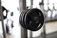 Fitness sport gym. Without people. Modern gym interior with equipment Stock Images