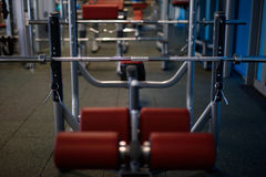 Fitness sport gym. Without people. Modern gym interior with equipment Royalty Free Stock Photography