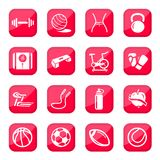 Fitness and sport icons Royalty Free Stock Photos