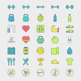 Fitness and sport icons Royalty Free Stock Image