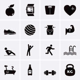 Fitness and Sport Icons. Royalty Free Stock Photo