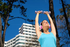 Fitness and sport lifestyle in city Royalty Free Stock Image