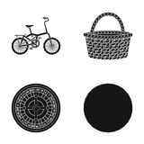 Fitness, sport and other web icon in black style.casino, products icons in set collection. Stock Images