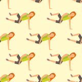 Fitness sport parkour people seamless pattern background person jumping extreme running danger gymnastics exercising Stock Images