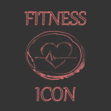 Fitness and Sport vector icons in doodle design Stock Photo