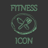 Fitness and Sport vector icons in doodle design Stock Images