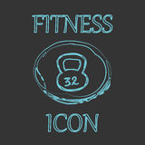 Fitness and Sport vector icons in doodle design Royalty Free Stock Photos