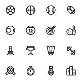 16 Fitness and Sport vector icons. For web and mobile royalty free illustration