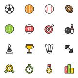 16 Fitness and Sport vector icons. For web and mobile Royalty Free Stock Photos