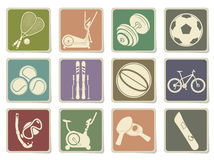 Fitness and Sport vector icons Stock Photography