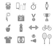 Fitness and Sport vector icons for web and mobile. Healthy Lifestyle Vector Illustration, Dieting, Fitness Nutrition Royalty Free Stock Images