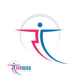 Fitness Sport - vector logo template concept illustration. Human character. Abstract running man figure. People sign. Design element Royalty Free Stock Photos