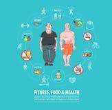Fitness, Sport, Voedsel, Gezondheidsconcept Het verlies van het gewicht Royalty-vrije Stock Foto