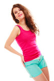 Fitness sport woman girl after workout gym Royalty Free Stock Photos