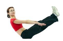 Fitness sportenvrouw Stock Foto's