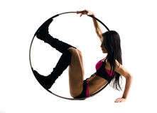 Fitness with sports hoop Stock Photos