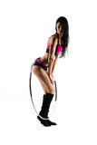 Fitness with sports hoop Royalty Free Stock Photography