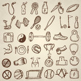 Fitness and sports icons. Stock Image
