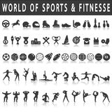Fitness and sports Icons Stock Photos