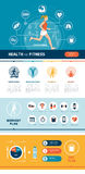 Fitness and sports infographic Stock Photos