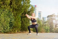 Fitness and sports outdoors in urban environment Stock Image