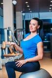 Fitness, sports, training, lifestyle - smiling royalty free stock image