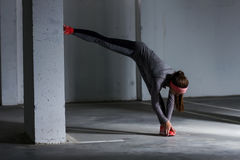 Fitness Sporty Exercising Active Woman Royalty Free Stock Images
