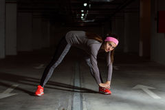 Fitness Sporty Exercising Active Woman Stock Images