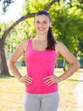Fitness, Sporty ,Healthy Lifestyle , Smiling Female Relaxing Royalty Free Stock Images