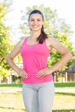 Fitness, Sporty ,Healthy Lifestyle , Smiling Female Relaxing Royalty Free Stock Photo
