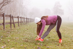 Fitness Sporty Woman Outdoor Activity Royalty Free Stock Images