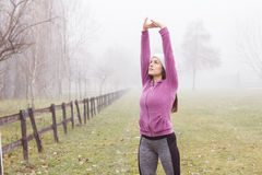 Fitness Sporty Woman Outdoor Activity Stock Photography