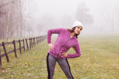 Fitness Sporty Woman Outdoor Activity Royalty Free Stock Photo