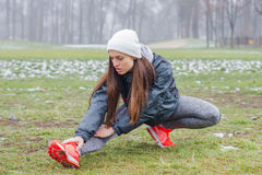 Fitness Sporty Woman Outdoor Stock Photos