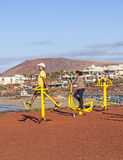 Fitness spot in Playa Blanca, Lanzarote Royalty Free Stock Images