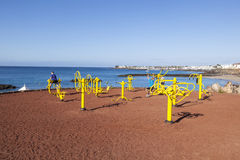 Fitness spot in Playa Blanca at Royalty Free Stock Photos