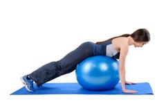 Fitness Stability Ball Glute Kickback Stock Photos