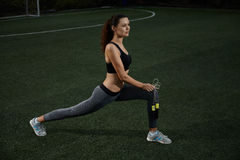 Fitness at the stadium Royalty Free Stock Images