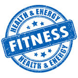 Fitness stamp Stock Photography