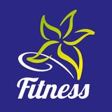 Fitness star abstract company. Stock Image