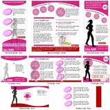 Fitness stationary template Royalty Free Stock Images