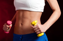 Fitness stomach Stock Photography