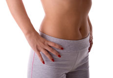 Fitness stomach Royalty Free Stock Photography