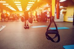 Athletes in the gym stock photography