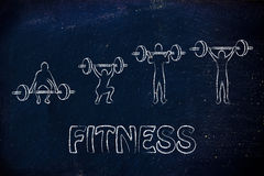 Fitness and strength training, man lifting heavy Stock Photography