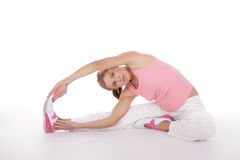 Fitness stretching Royalty Free Stock Images