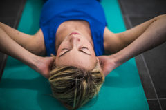 Fitness and stretching Stock Image