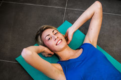 Fitness and stretching Royalty Free Stock Images