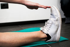 Fitness and stretching Stock Images